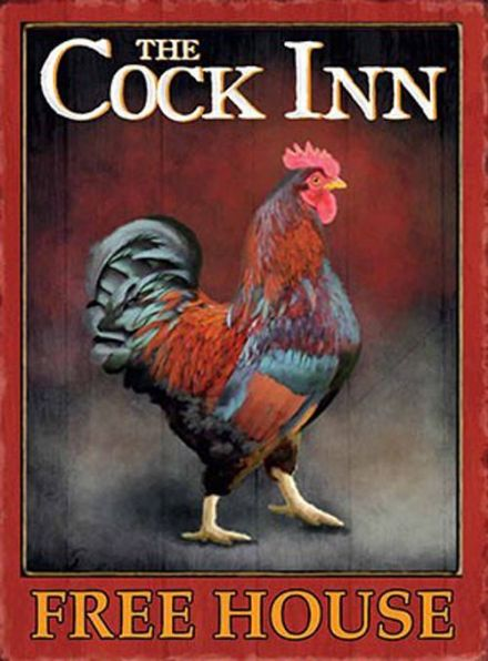 The Cock Inn Pub Sign SALE - Metal Wall Sign (3 sizes)
